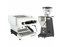 Appliances Online La Marzocco Linea Mini White Home Package with Black Grinder H-MPACKWB