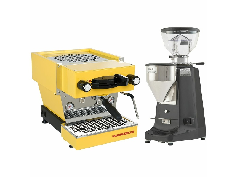 La Marzocco Linea Mini Yellow Home Package with Black Grinder H-MPACKYL