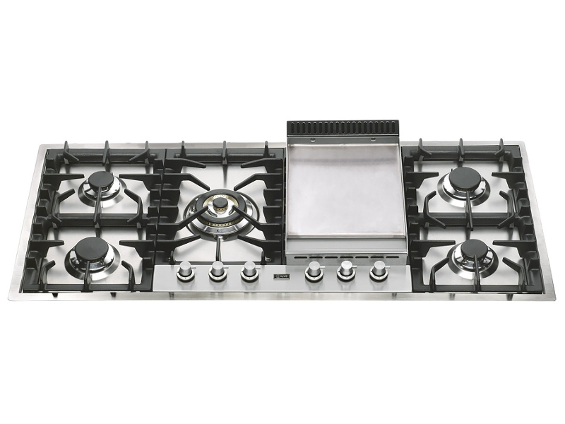 ILVE HP125FDT 120cm Flushline Natural Gas Cooktop with Tepanyaki Plate