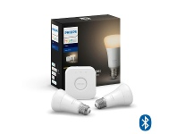 Appliances Online Philips Hue White A60 Starter Kit With Bluetooth HUEDIMKITHUEWE27BT