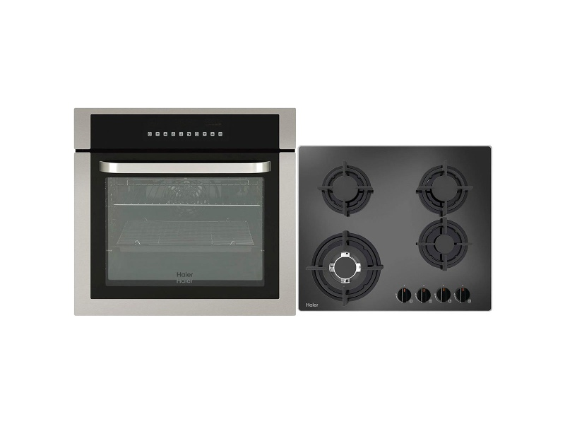 Haier 60cm Electric Oven & 60cm Gas Cooktop Pack HWO60S10TX1HCG604WFC