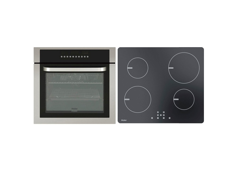 Haier 60cm Pyrolytic Oven & 60cm Induction Cooktop Pack HWO60S11TPX1HCI604TB