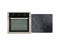 Appliances Online Haier 60cm Electric Oven & 60cm Ceramic Cooktop Pack HWO60S7EX1HCE604TB2