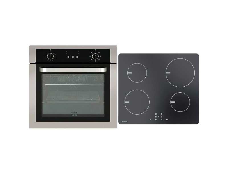 Haier 60cm Electric Oven & 60cm Ceramic Cooktop Pack HWO60S7EX1HCE604TB2