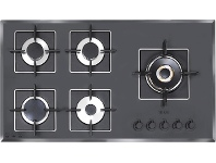 Appliances Online ILVE 90cm Grigio Lusso Natural Gas Cooktop ILGV905