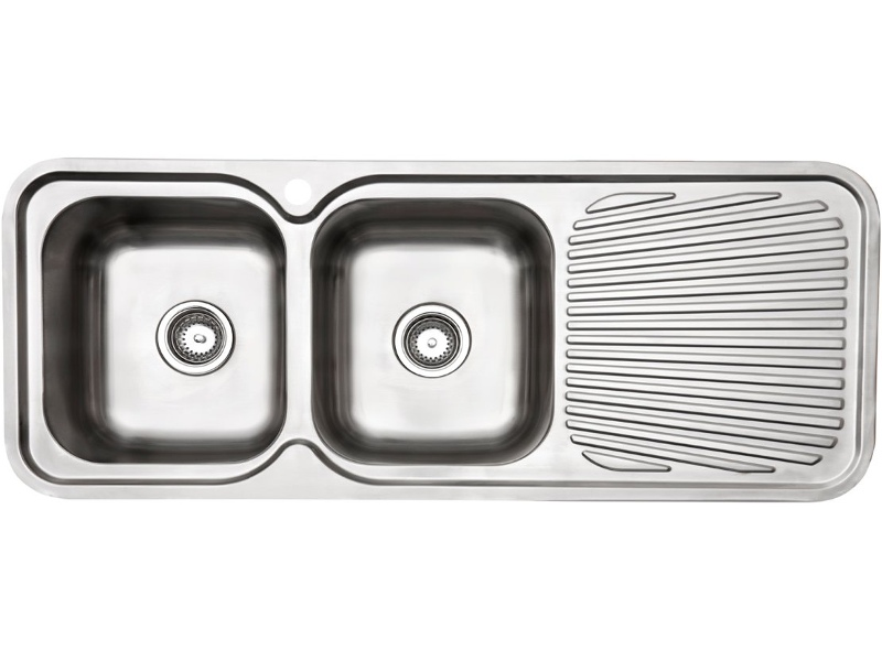 Arc IS12LS4 Double Bowl Right Hand Drainer Inset Sink