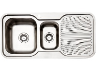 Appliances Online Arc IS9LS3 1 and 1/4 Bowl Right Hand Drainer Sink