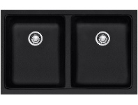 Appliances Online Franke KBG120BONYX Kubus Double Bowl Undermount Sink