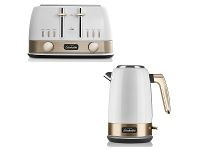 Appliances Online Sunbeam KE4430WGTA4440WG New York Jug Kettle and 4 Slice Toaster Pack