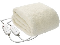 Appliances Online Kambrook Double/Queen Fleece Fitted Electric Blanket KEB535WHT