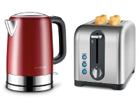 Appliances Online Kambrook KKE630BSSKTA270BSS Red Kettle and 2 Slice Toaster Pack