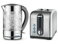 Appliances Online Kambrook KKE760CLRKT260 Glass Kettle and Extra Lift 2 Slice Toaster Pack