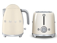 Appliances Online Smeg KLF03CRAUTSF01CRAU Cream Kettle and 2 Slice Toaster Pack