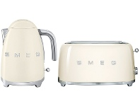 Appliances Online Smeg KLF03CRAUTSF02CRAU Cream Kettle and 4 Slice Toaster Pack