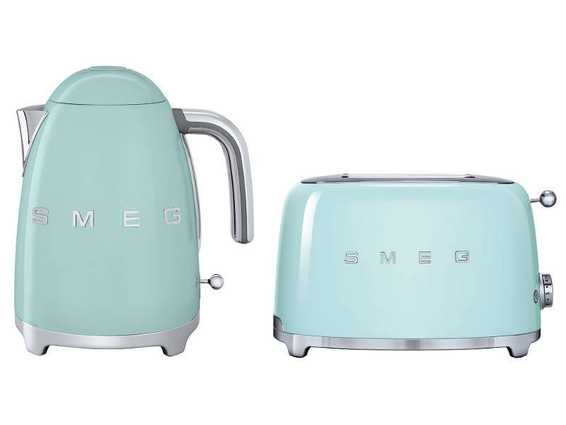 Smeg KLF03PGAUTSF01PGAU Pastel Green Kettle and 2 Slice Toaster Pack