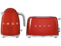 Appliances Online Smeg KLF03RDAUTSF01RDAU Red Kettle and 2 Slice Toaster Pack