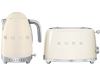 Appliances Online Smeg KLF04CRAUTSF01CRAU Cream Kettle and 2 Slice Toaster Pack