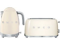 Appliances Online Smeg KLF04CRAUTSF02CRAU Cream Kettle and 4 Slice Toaster Pack