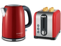 Appliances Online Kambrook KSK220REDKT260RED Red Kettle and 2 Slice Toaster Pack