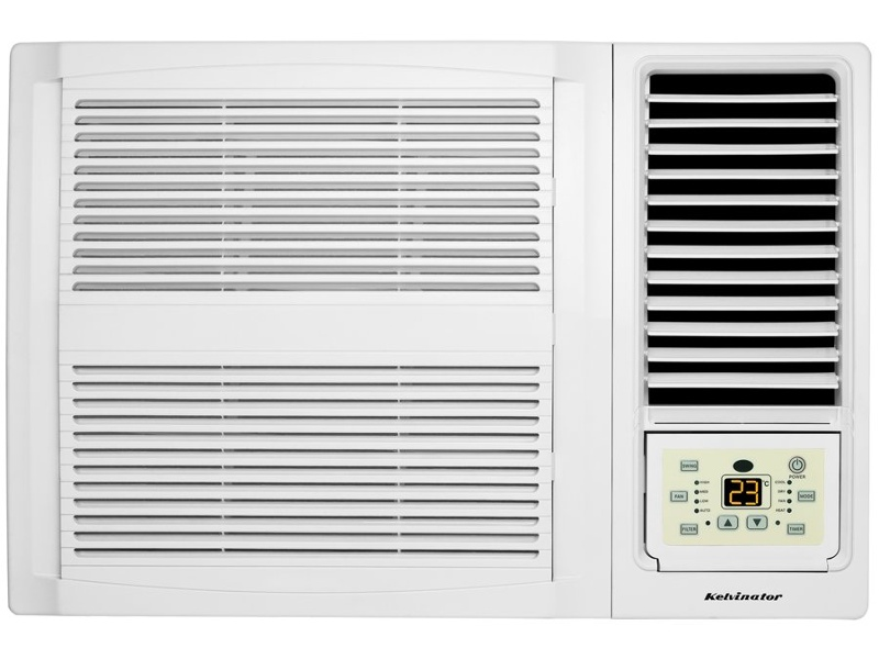 Kelvinator 2.7kW Window Box Reverse Cycle Air Conditioner KWH26HRE
