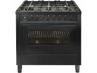 Appliances Online ILVE 90cm Nero Lusso Natural Gas Freestanding Oven/Stove L096WMP/MGD
