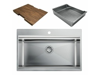 Appliances Online Artinox Layer 74 Workstation Sink with Accessories LACCBRP074