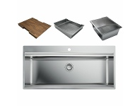 Appliances Online Artinox Layer 104 Workstation Sink with Accessories LACCBRP104