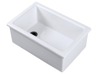 Appliances Online Shaws LB0400010 Laboratory Type 3 Single Bowl Handcrafted Fireclay Sink