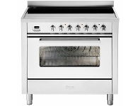 Appliances Online ILVE 90cm Pro-Line Single Electric Oven with Induction Cooktop LBI09WMPSS