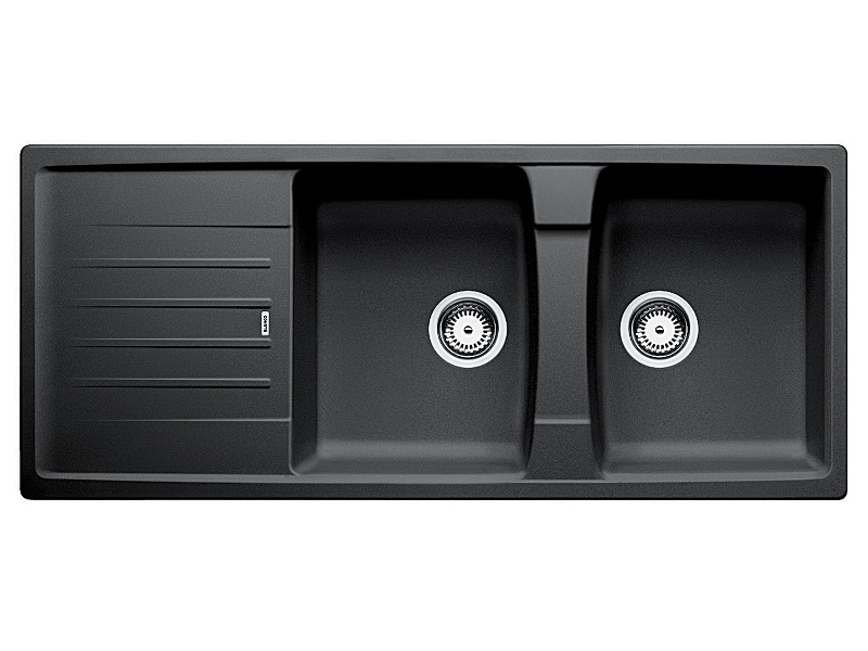 Blanco LEXA8SK5 Double Bowl Sink with Reversible Drainer