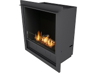 Appliances Online Planika LFCT L-Fire Bio-Ethanol Built-In Fireplace with Logs & Casing & Trim