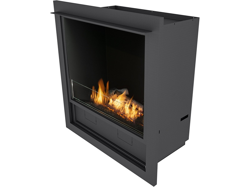 Planika LFCT L-Fire Bio-Ethanol Built-In Fireplace with Logs & Casing & Trim