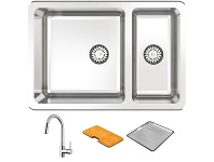 Abey LG180UT2 Lago 1 and 1/3 Bowl Undermount Sink Pack