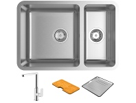 Appliances Online Abey LG180UT5 Lago 1 and 1/3 Bowl Undermount Sink Pack