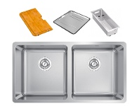 Appliances Online Abey LG200PK Lago Inset Double Bowl Sink Pack