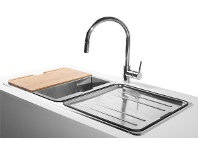 Abey LG200TPK Lago Inset Double Bowl Sink Pack