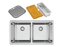 Appliances Online Abey LG200UPK Lago Double Bowl Undermount Sink Pack