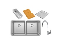 Abey LG200UTPK Lago Double Bowl Undermount Sink Pack