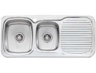 Appliances Online Oliveri LL136 Lakeland 1 and 3/4 Bowl Right Hand Drainer Sink