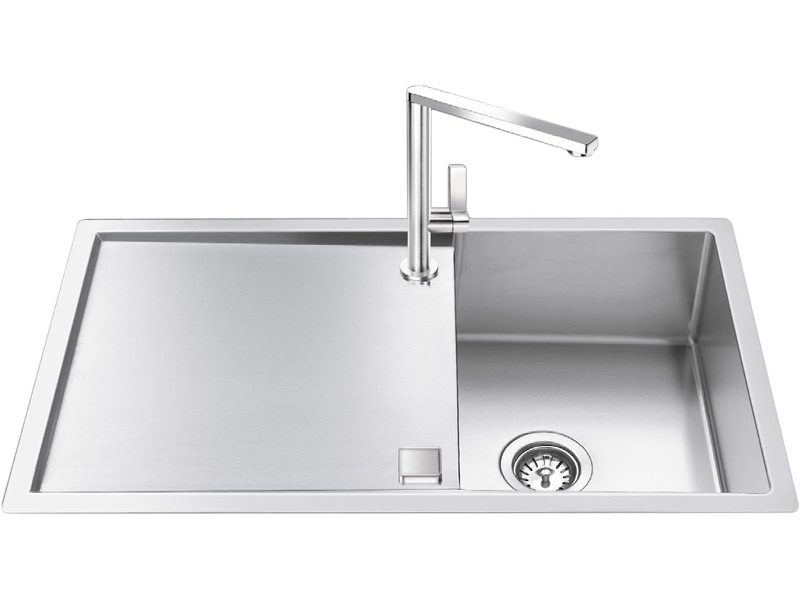 Smeg LR861 Single Bowl Reversible Drainer Sink
