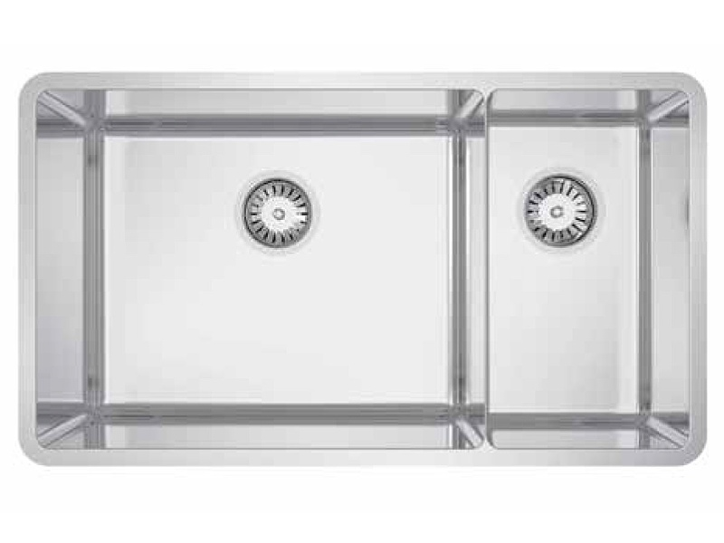 Abey LUA221 Lucia 1 and 3/4 Topmount or Undermount Bowl Sink