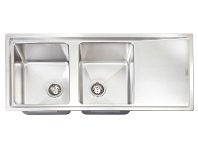 Appliances Online Artusi Mayfair Double Bowl Right Hand Drainer Sink MAYFAIR-L
