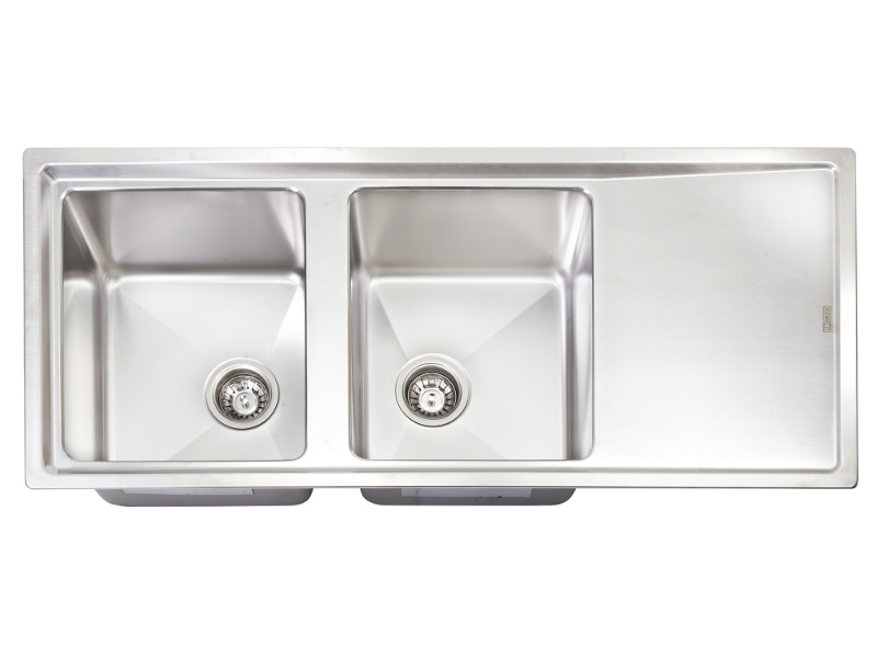 Artusi Mayfair Double Bowl Right Hand Drainer Sink MAYFAIR-L
