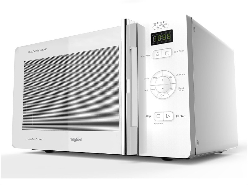 Whirlpool MWC25WH 25L Crisp & Grill Microwave Oven