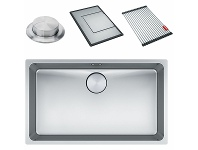 Appliances Online Franke Mythos Single Bowl Undermount Sink with Accessories MYX110-70FPC