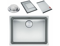 Appliances Online Franke Mythos Double Bowl Undermount Sink with Accessories MYX120-3434FPC