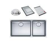Appliances Online Franke Mythos Mythos Double Bowl 3 Way Installation Sink with Accessories MYX220-5034FPCSBR