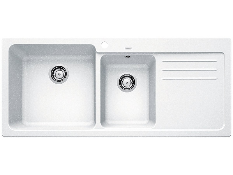 Blanco Bowl and 3/4 Inset Sink with Right Hand Drainer White NAYA8SWK5
