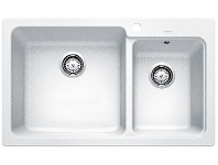 Appliances Online Blanco NAYA8WK5 White Inset Double Sink
