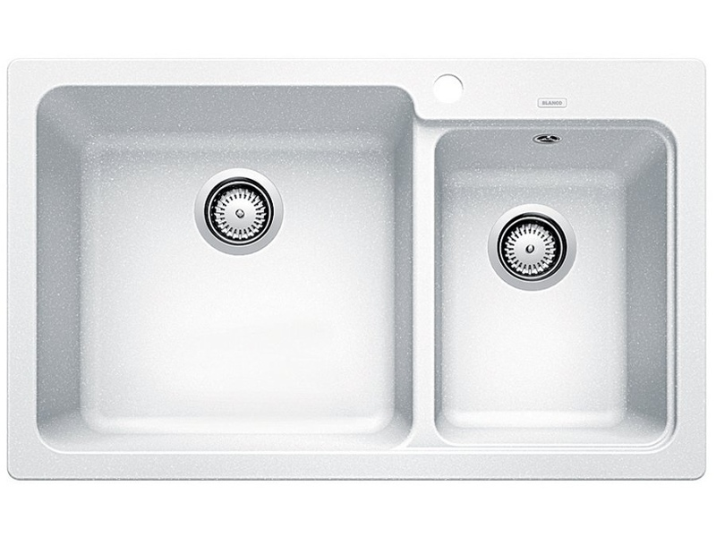 Blanco NAYA8WK5 White Inset Double Sink